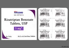 White Oblong Tablet Rzt And 5 - Rizatriptan Benzoate 5mg Tablet