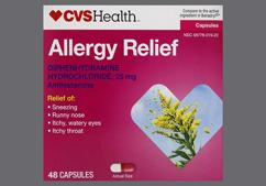 Pink And White 44-107 44-107 - CVS Allergy Relief 25mg Capsule