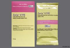 Zovia Coupon - Zovia 28 tablets of 1mg/35mcg package