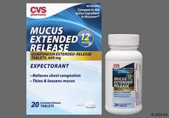 White Round Tablet L498 - CVS Mucus Extended Release 600mg Extended-Release Tablet