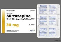 White Round Orally Disintegrating Tab Wpi And 2470 - Mirtazapine 30mg Orally Disintegrating Tablet