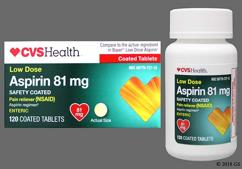 Yellow Round Tablet 1 And E T81 - CVS Aspirin Low Dose 81mg Enteric Coated Tablet