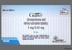 White Round Package Dp - Gianvi Tablet