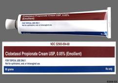 white - Clobetasol Propionate 0.05% Topical Emollient Cream