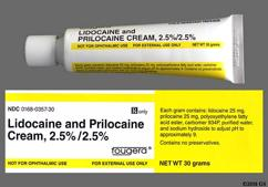 white - Lidocaine/Prilocaine 2.5%-2.5% Topical Cream