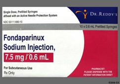 yellow - Fondaparinux Sodium 7.5mg/0.6ml Solution for Injection