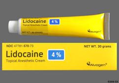 Lidocaine OTC Coupon - Lidocaine OTC 4 ounces of 4% tube of cream