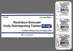 White Round F25 - Rizatriptan Benzoate 10mg Orally Disintegrating Tablet