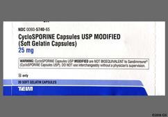 Yellow Capsule Logo 25 Mg - Cyclosporine (modified) 25mg Capsule