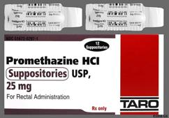 white bullet - Promethazine 25mg Rectal Suppository