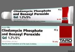 yellow - Clindamycin Phosphate/Benzoyl Peroxide 1.2%-5% Topical Gel