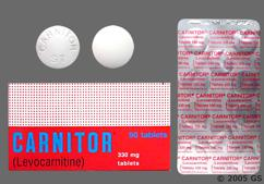 White Round Tablet Carnitor St - Carnitor 330mg Tablet