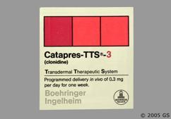Beige Square Patch Bi 33 - Catapres TTS-3 Transdermal System