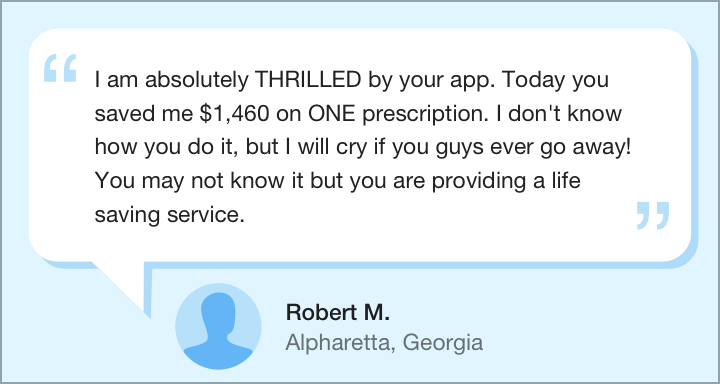 Screenshot of customer testimonial